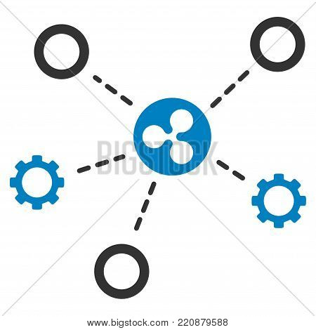 Ripple Network Structure flat vector icon. An isolated ripple network structure symbol on a white background.