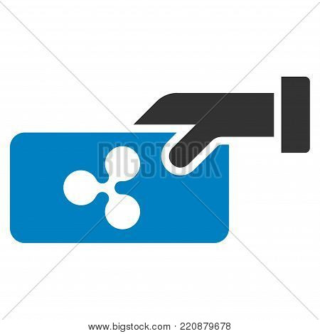Ripple Payment flat vector icon. An isolated ripple payment pictograph on a white background.