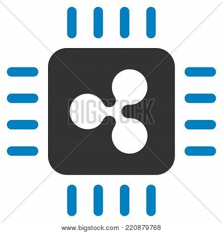Ripple Processor flat vector icon. An isolated ripple processor icon on a white background.