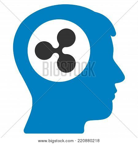 Ripple Think flat vector icon. An isolated ripple think icon on a white background.