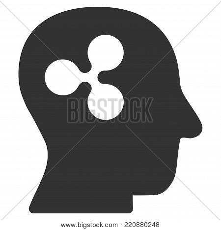 Ripple Thinking flat vector icon. An isolated ripple thinking icon on a white background.