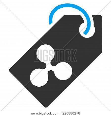 Ripple Token flat vector icon. An isolated ripple token illustration on a white background.