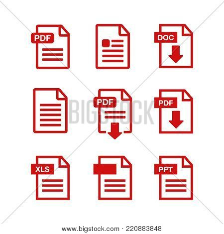 File Download Icon. Document Text, Symbol Web Format Information