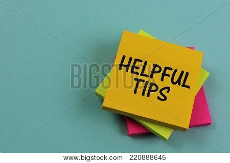 An concept Image of a helpful tips note