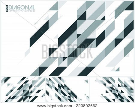 Modern diagonal abstract background vector. Suitable for your design element and background