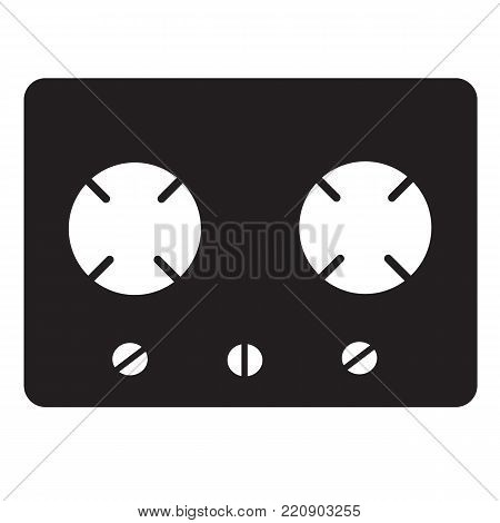 gas stove icon on white background. flat style design. gas stove sign.