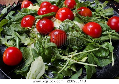 vegetarian salad proper nutrition food ingredients concept. hard diet lifestyle. specially for cellulose fans.
