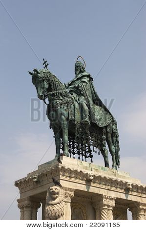 Statue of Stephen I in Budapest