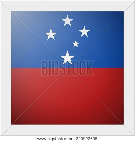 Oceania zone flag collection with photo of Samoa flag , vector , illustration