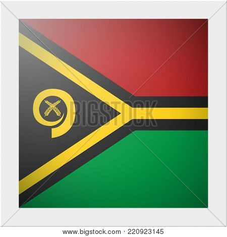 Oceania zone flag collection with photo of Vanuatu flag , vector , illustration