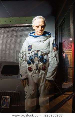 A Waxwork Of Neil Alden Armstrong Display At Josephine Tussaud  Wax Museum