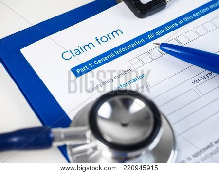 Stethoscope Lying On Patient Medical History