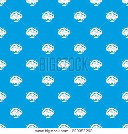 Projectile explosion pattern repeat seamless in blue color for any design. Vector geometric illustration