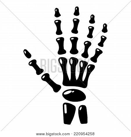 Inflammation of hand icon. Simple illustration of inflammation of hand vector icon for web.