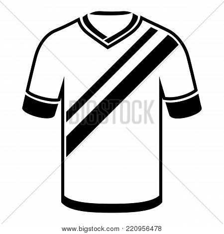 Shirt football icon. Simple illustration of shirt football vector icon for web
