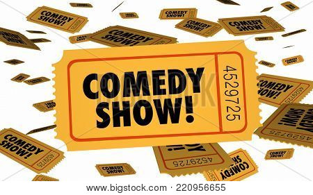 Comedy Show Stand Up Ticket Admission 3d Illustration