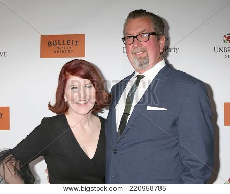 LOS ANGELES - JAN 5:  Kate Flannery, Chris Haston at the Unbridled Eve Derby Prelude Party Los Angeles at the Avalon on January 5, 2018 in Los Angeles, CA