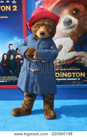 LOS ANGELES - JAN 6:  Paddington Bear Character at the