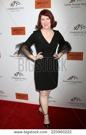 LOS ANGELES - JAN 5:  Kate Flannery at the Unbridled Eve Derby Prelude Party Los Angeles at the Avalon on January 5, 2018 in Los Angeles, CA