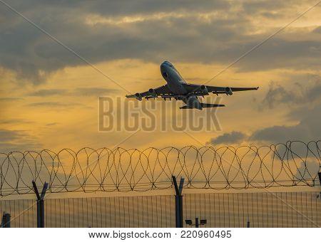 HONG KONG, CHINA - NOVEMBER 09 2013: Takeoff of the Pacific Airlines company's air liner from Hong Kong airport