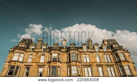 A Traditional Grand Sandstone Glasgow Tenement Apartments