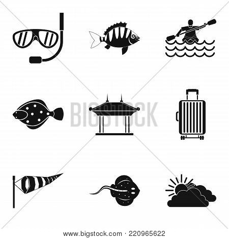 Dip icons set. Simple set of 9 dip vector icons for web isolated on white background
