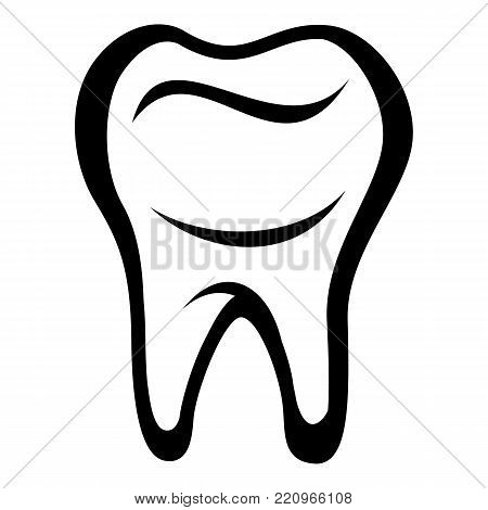 Tooth icon. Simple illustration of tooth vector icon for web
