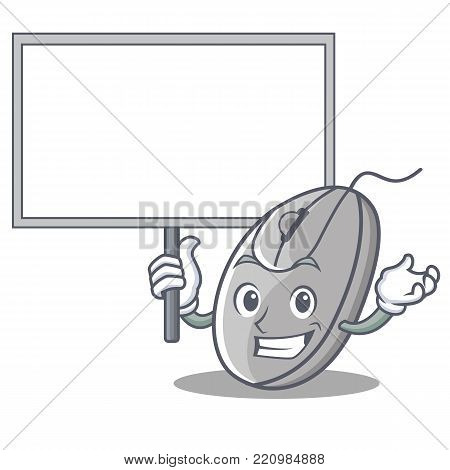 Bring board mouse character cartoon style vector illustration