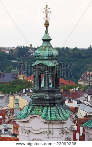 Steeple With Green Roof