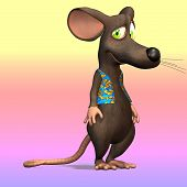 Very cute mouse in cartoon style with various expressions and situations poster