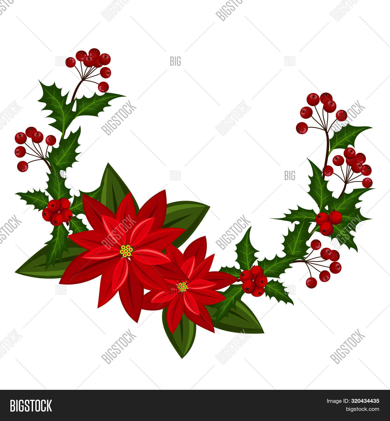 Christmas Wreath Vector Photo Free Trial Bigstock