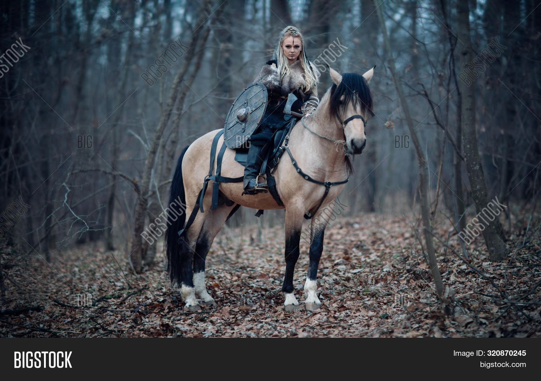 Viking Warrior Female Image Photo Free Trial Bigstock