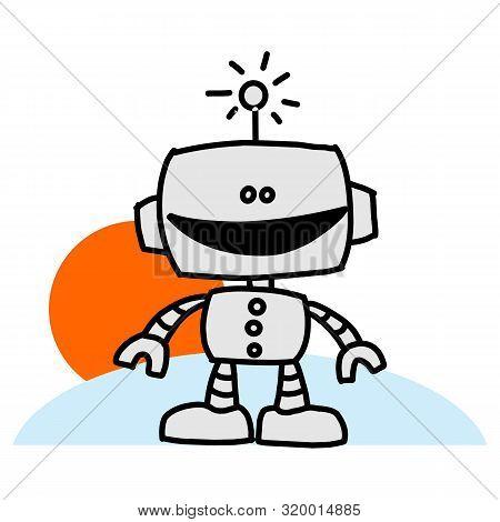 Robotic Arm Icon Isolated On White Background. Robotic Arm Icon In Trendy Design Style. Robotic Arm