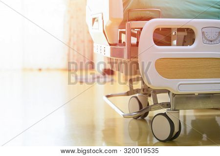 Hospital Patient Bed Clean Bed In A Modern Hospital,, Health Concept