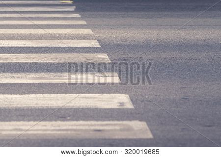 Zebra Crossing Abstract Background. Background Image Of Zebra Crossing. Traffic Abstract Background.