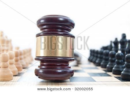 Law Chess Concept