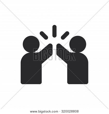 High Five Icon Isolated On White Background. High Five Icon In Trendy Design Style For Web Site And