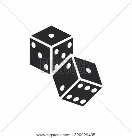 Dice Icon Isolated On White Background. Dice Icon In Trendy Design Style For Web Site And Mobile App