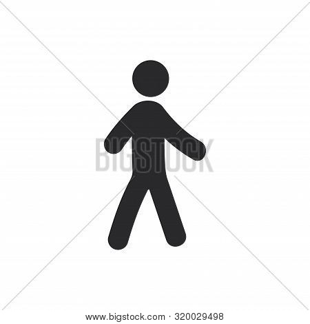 Relaxing Walk Icon Isolated On White Background. Relaxing Walk Icon In Trendy Design Style For Web S
