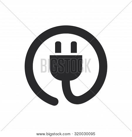 Power Cord Icon Isolated On White Background. Power Cord Icon In Trendy Design Style For Web Site An