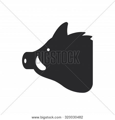 Hog Head Icon Isolated On White Background. Hog Head Icon In Trendy Design Style For Web Site And Mo