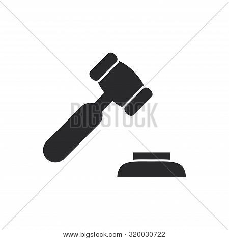 Justice Hammer Icon Isolated On White Background. Justice Hammer Icon In Trendy Design Style For Web