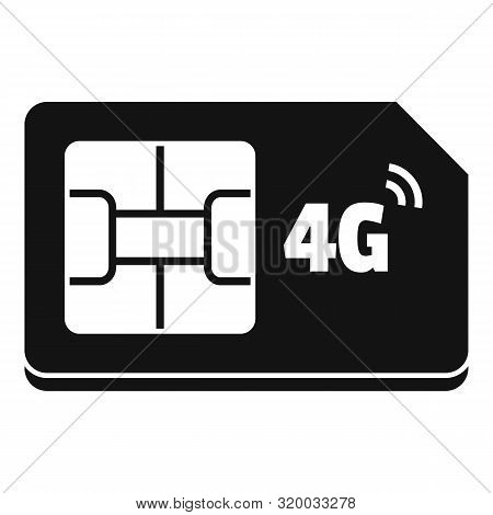 4g Sim Card Icon. Simple Illustration Of 4g Sim Card Vector Icon For Web Design Isolated On White Ba