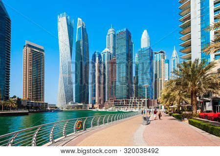 Dubai Marina Is An Artificial Canal City And A District In Dubai In Uae