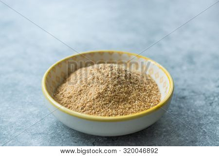 Bread Crumbs / Rusk Powder In Porcelain Bowl.
