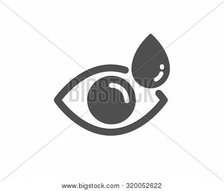 Oculist Clinic Sign. Eye Drops Icon. Optometry Vision Symbol. Classic Flat Style. Simple Eye Drops I