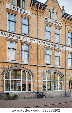 Haarlem, Netherlands - Aug 26, 2019: View Of Large Tweede Hollandsche Maatshapij Van Levensverzekeri