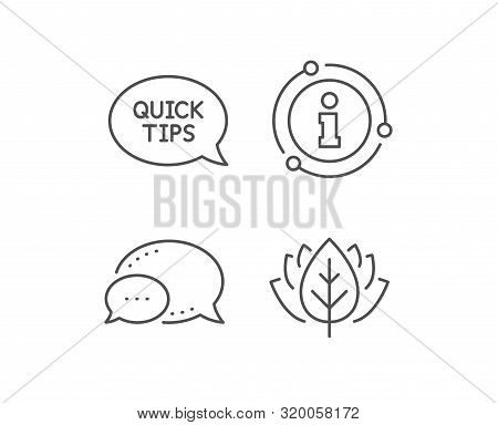 Quick Tips Line Icon. Chat Bubble, Info Sign Elements. Helpful Tricks Speech Bubble Sign. Linear Qui
