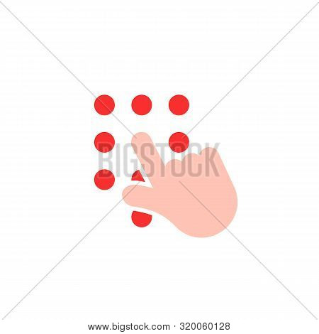 Dial Phone Number With Hand. Concept Of Unblocking Or Blocking Smartphone And Dialing A Number Or Pi