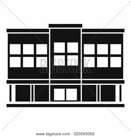 Shopping Mall Icon. Simple Illustration Of Shopping Mall Vector Icon For Web Design Isolated On Whit